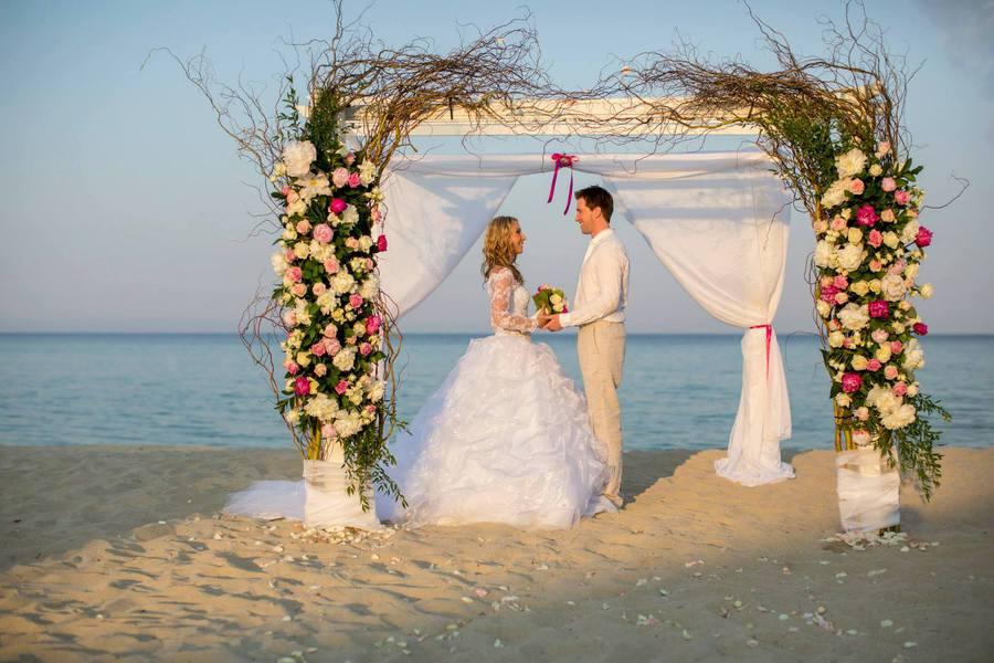 Heiraten am strand in griechenland